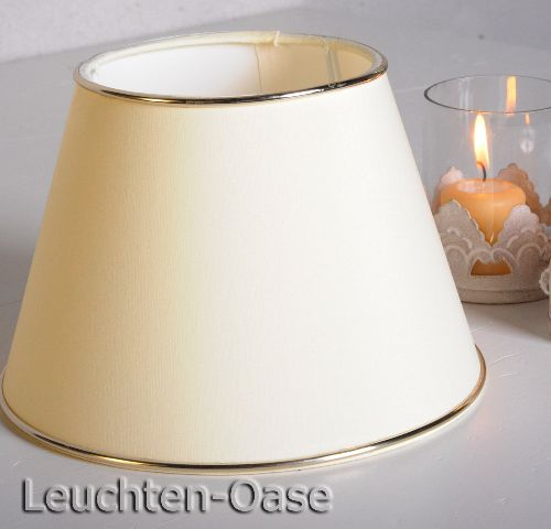lampenschirm stoff tischlampe licht tischleuchte lampenschirme chintz creme 20cm ebay. Black Bedroom Furniture Sets. Home Design Ideas